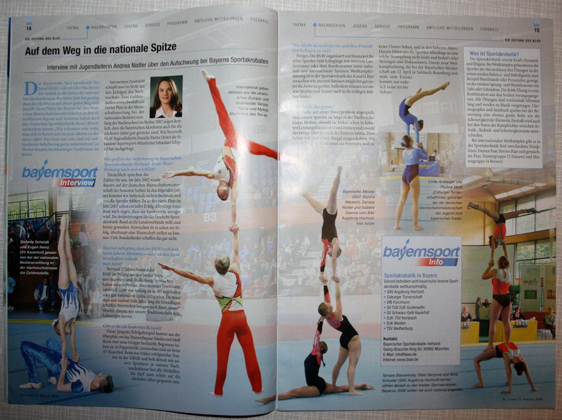 "Sportakrobatik-Interview im ""bayernsport"""