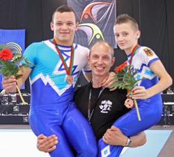 Lukas Claus, Nikolaj Dewataikin und Igor Blintsov