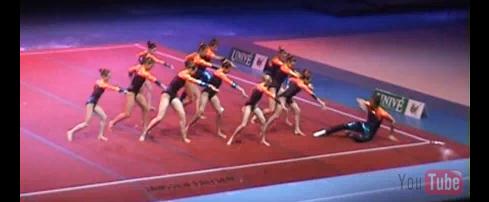 Sportakrobatik Show der belgischen Nationalmannschaft