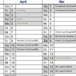 Wettkampfkalender 2010