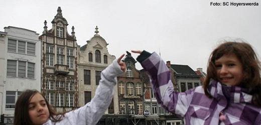 Jean Balogh und Justice Niesar waren mit dem SC Hoyerswerda in Flandern