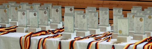 Die Pokale bei der DM Schüler 2009