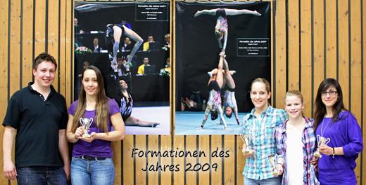 Ehrung der Formationen des Jahres 2009