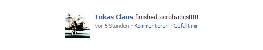 Lukas Claus auf Facebook