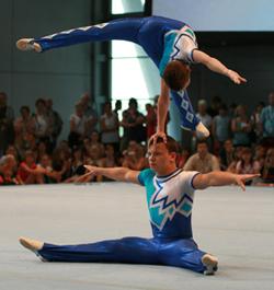 Lukas und Nikolaj bei der DM 2009 in Frankfurt