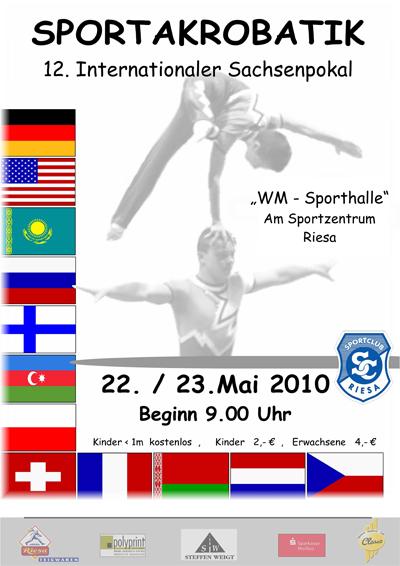 Das Plakat zum 12. internationalen Sachsenpokal