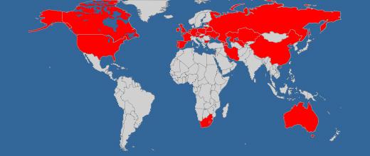 Die an der WM teilnehmenden Länder