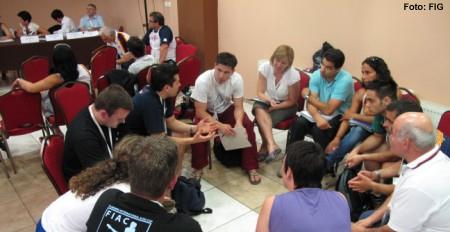 Konferenz mit den Nationaltrainern und den Mitgliedern des TK