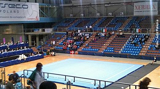So sieht die Wettkampfhalle in Rzeszów aus...