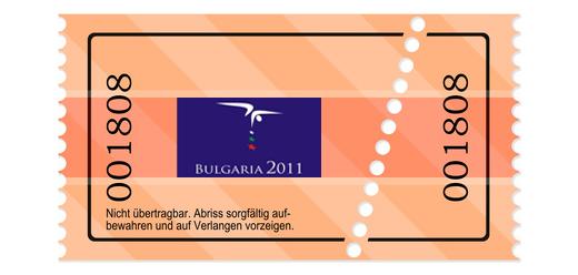 Ticket für die EM in Bulgarien