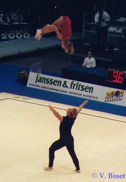 Björn Fünfstück und Antje Michl auf der WM 1999 in Gent