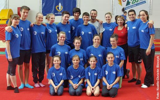 Die deutschen Teilnehmer mit ihren Trainern