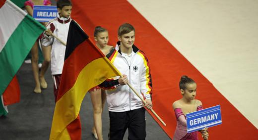 Tim Sebastian marschierte bei der Eröffnungsfeier für Deutschland ein