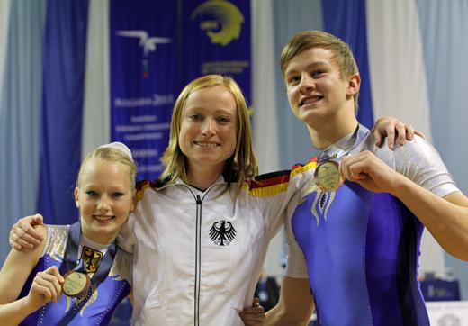 Bronze für Tim Sebastian und Rosa Löhmann sowie Trainerin Ramona Herrmann