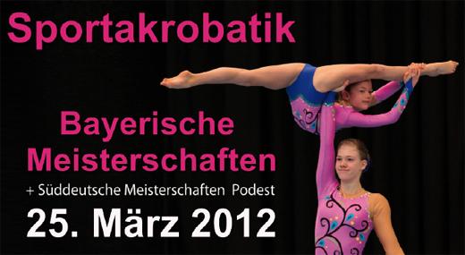 Plakat Bayerische Meisterschaft 2012 in Friedberg