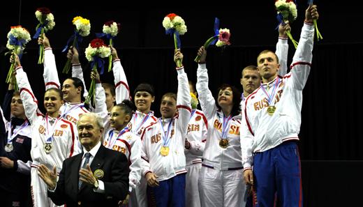 Russland Mannschafts-Weltmeister