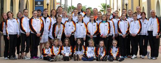 Das deutsche Team zur Jugend- und Junioren-WM