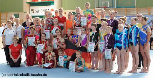 Sächsische Sportakrobaten in Swidnica dabei