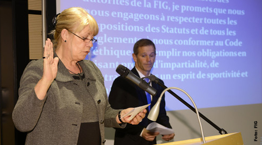 Rosy Taeymans: Transfer of Powers in Lausanne (SUI)