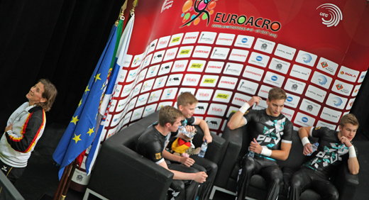 Tobias Otto, Vincent Kühne, Moritz Löhmann und Laurin Werner