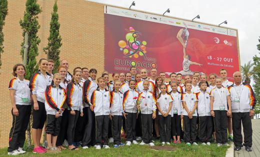 Die deutsche Delegation zur Jugend-EM