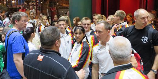 Die deutsche Nationalmannschaft ist in Portugal angekommen.