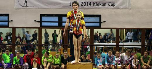 Gesamtsieger der Klokan Cups: Richard Kretzschmar und Mara Dittrich