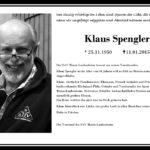 Nachruf Klaus Spengler