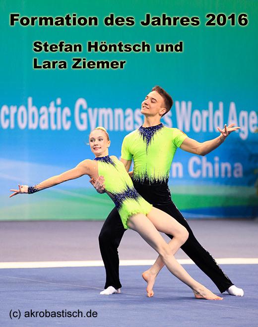 Formation des Jahres 2016: Stefan Höntsch und Lara Ziemer